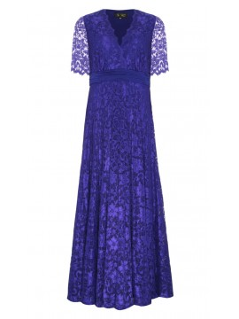Empire Waist Lace Gown in Blue