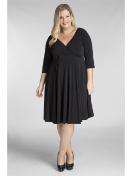 Plus Size Jersey Dress in Black