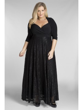 Plus Size Lace Maxi Dress