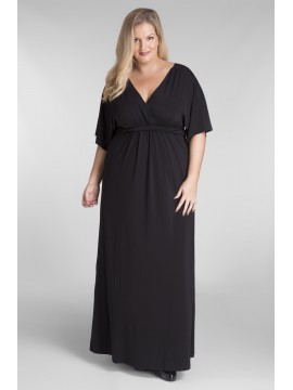 Plus Size Jersey Maxi Dress in Black