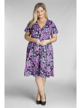 Plus Size Jersey Dress in Cherry Blossom