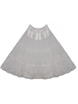 50's Style Netting Petticoat in White