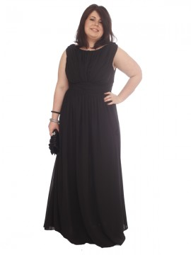 Formal/Evening Dress - Black Chiffon and matching shawl