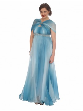 Graduate 2 Tone Chiffon and Crystal Evening Dress