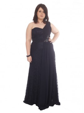 Lace and Chiffon Evening Dress
