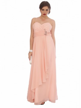 Waterfall Chiffon Evening Dress